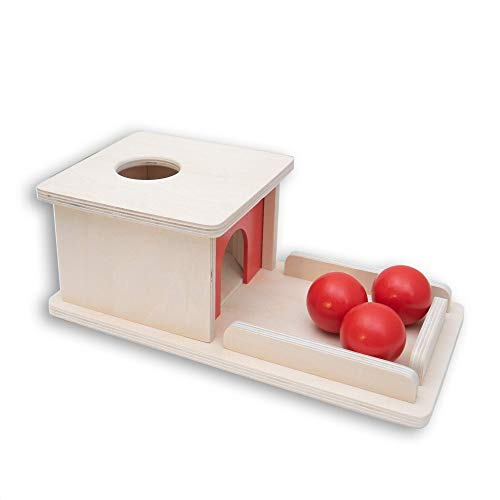 Box Wooden Toy Tray and Ball Drop