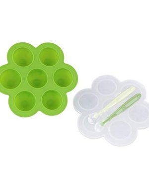 Acorn Baby Green Silicone Food Container with Thin Lid
