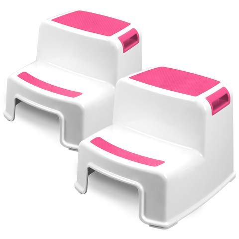 Two Step Kids Step Stools - 2 Pack, Pink - Child