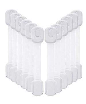 12 Pack Baby Proofing Cabinet Strap Locks