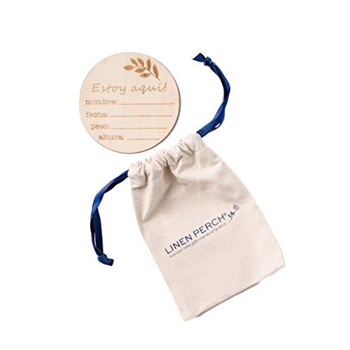 Linen Perch Spanish Birth Announcement Sign - Personalizable