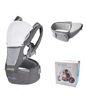 Baby Carrier Hip Seat for Newborn Toddler, Front Facing Child Carrier