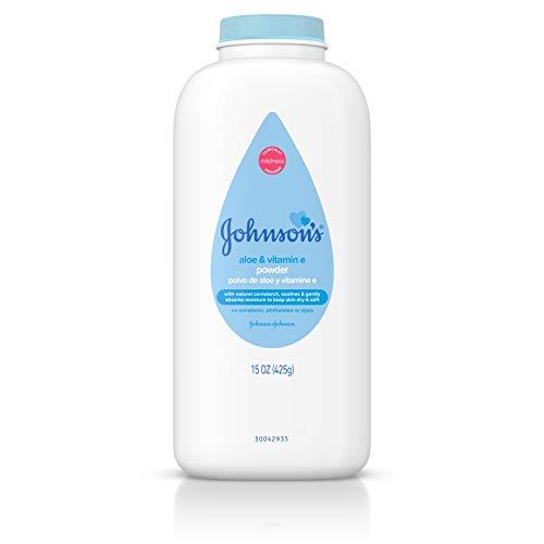 Johnson's Baby Powder, Pure Cornstarch with Aloe, Vitamin E