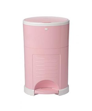 Dekor Plus Hands-Free Diaper Pail | Soft Pink | Easiest to Use