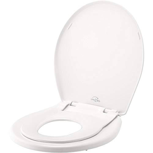 Toilet Seat with Built-In Potty Training Seat