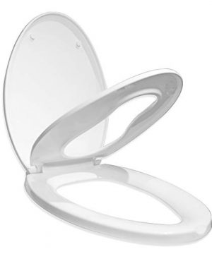 Elongated Slow Close Toilet Seat for Adult, 2-8years kids