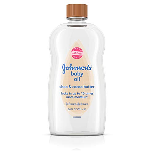 Johnson's Baby Oil, Mineral Oil Enriched With Shea