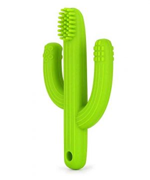 Cactus Teether Baby Toothbrush, Self-Soothing Pain Relief