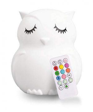 LED Nursery Owl Night Light for Kids LumiPets