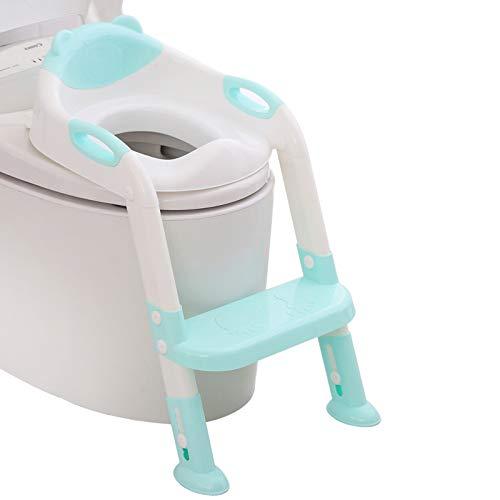 711TEK Potty Training Seat Toddler Toilet Seat with Step Stool Ladder
