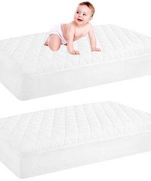 2 Pack Waterproof Crib Mattress Protector