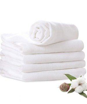 Muslin Burp Cloths 100% Cotton 6 Layers Large 10''x20'' Extra Soft