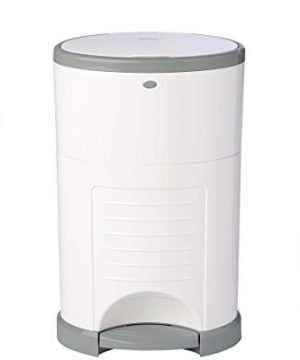 Dekor Classic Hands-Free Diaper Pail | White | Easiest to Use