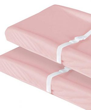 Changing Pad Cover Pink for Girl, 100% Organic Cotton