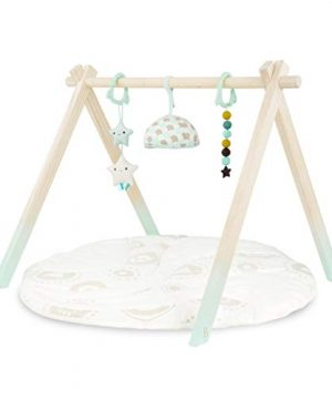 B. toys – Wooden Baby Play Gym – Activity Mat