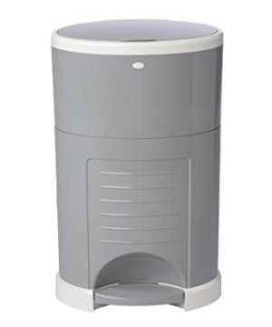 Dekor Classic Hands-Free Diaper Pail | Gray | Easiest to Use