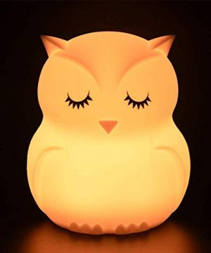 Owl Night Light for Kids Rechargeable Baby Silicone
