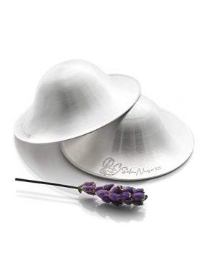 Silver Nursing Cups, Breast Shells Breastfeeding Silver Nurse Cups