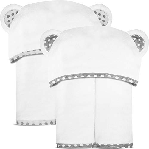 Set of 2 Bamboo Hooded Baby Towels – Large