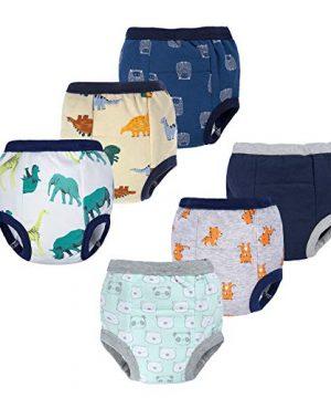 BIG ELEPHANT 6 Pack Baby Boys' 100% Cotton Toddler Potty