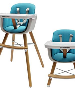 Baby to Toddler Wooden Convertible Highchair