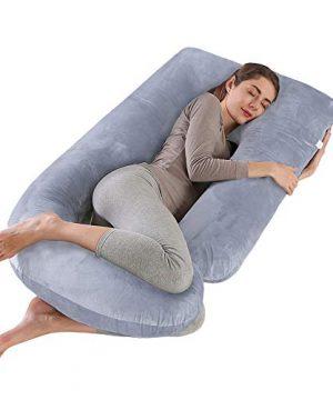"CDEN Pregnancy Pillow, J Shaped Full Body Pillow 57"""