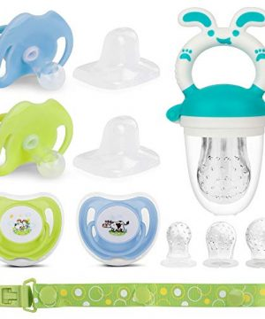 Baby Fruit Feeder Set 4X Pacifiers 0-6 Months