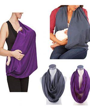 2 Pack Nursing Cover Breastfeeding, JTSN Lightweight