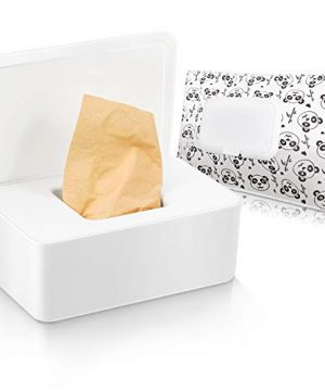 Tissue Box with Lid Baby Wipes Dispenser Pouch with Lids
