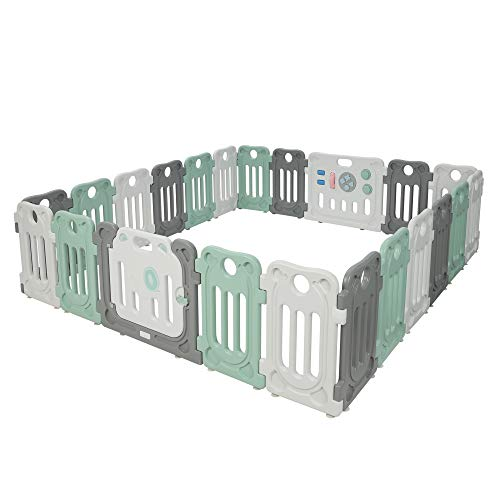 Moromuu Large Baby Playpen, 22 Panel, Kids Safety Play Yard