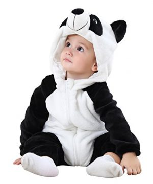 MICHLEY Unisex Baby Winter Hooded Romper