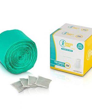 Diaper Pail Bags (100 Count ) - Compatible with Ubbi Pails