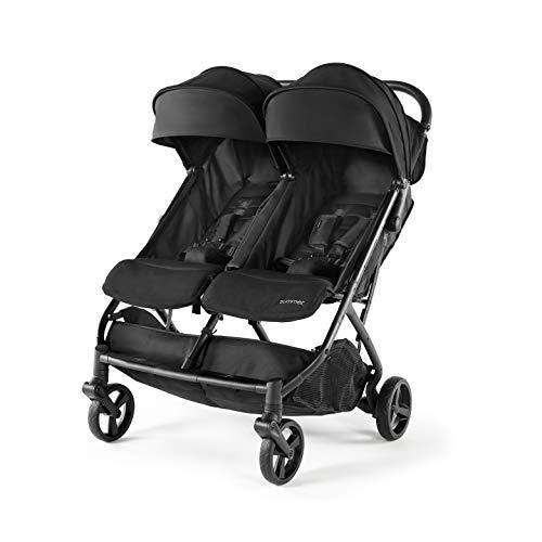 Summer 3Dpac CS+ Double Stroller, Black – Car Seat Compatible