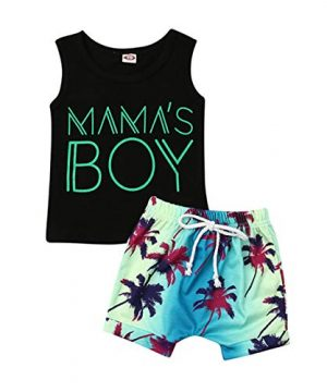 2Pcs Baby Boys Summer Clothing Sets Cute Letters Print
