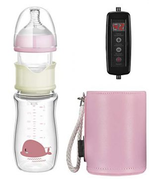 Heating constant temperature baby glass bottles