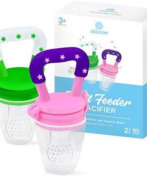 Ashtonbee Baby Fruit Feeder, Baby Food Feeder Pacifiers