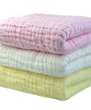 3PCS Newborn Baby Towel 6 Layers Soft Cotton