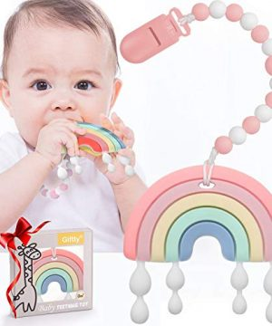 0-24 Months Teething Rainbow Toys for Babies