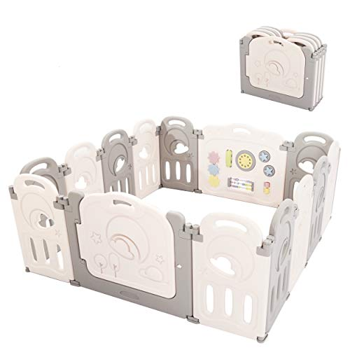 Fortella Cloud Castle Foldable Playpen, Baby Safety Play Yard