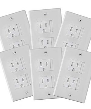 6-Pack Safety Innovations Self-closing (2 Screw) Decora Outlet Covers