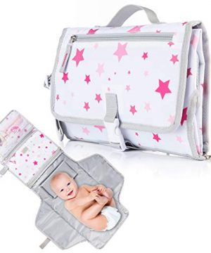 Ludivy Portable Diaper Changing Pad for Baby Girl