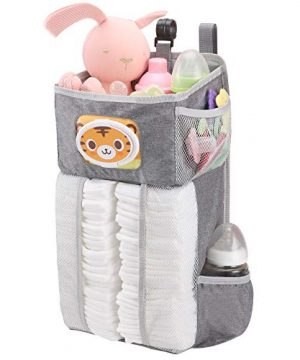 Accmor Hanging Baby Diaper Caddy Organizer with Paper Pocket