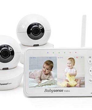 "Baby Monitor, Babysense 4.3"" Split Screen, Video Baby Monitor"