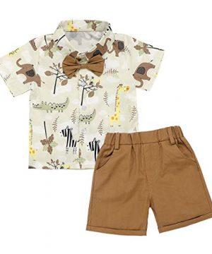 Toddler Baby Boys Summer Clothes Button-Down Short Sleeve