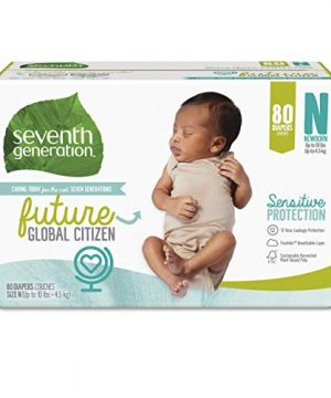 Seventh Generation Baby Diapers, Size Newborn