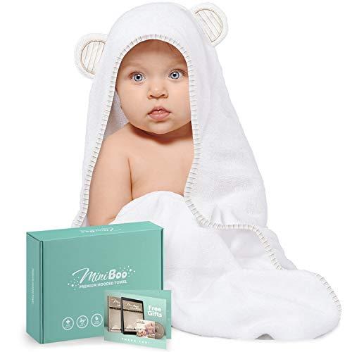 Organic Bamboo Baby Hooded Towel – Ultra Soft