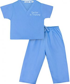 Scoots Kids Scrubs for Baby Boys, Doctor in Training Embroidery