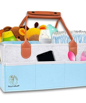 Baby Diaper Caddy Organizer, Baby Gift Basket for Car/Bedroom/Travel
