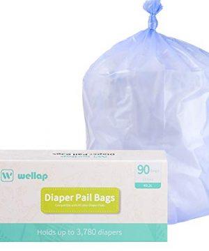 Diaper Pail Refill Bags 90 Count Compatible with Ubbi Pails 13 Gallon
