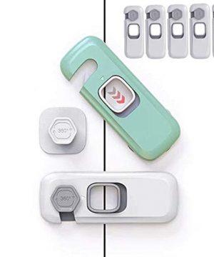 Cabinet Locks - ENCOLOVE Child Safety Locks 5 Pack